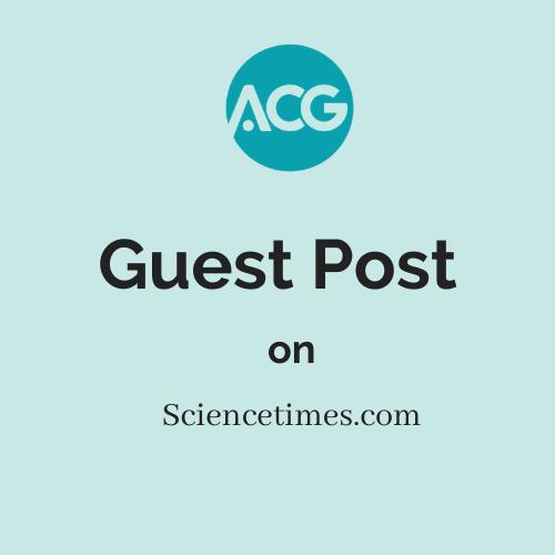 Guest Post on Sciencetimes.com